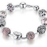 Bratara argint tip Pandora,cadoul perfect pentru iubita,mama,ea.