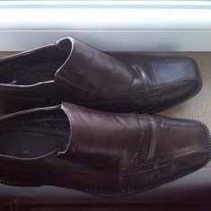 Pantofi piele barbati marime 46 - Pantofi barbat, Culoare: Maro