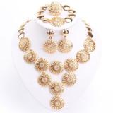 Set mireasa_GOLD FILLED_set golden 4 piese cu cristale - Set bijuterii handmade si fashion
