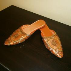 Papuci dama de casa, noi, marimea 36!, Culoare: Din imagine