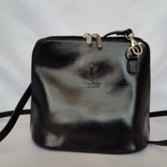 Poseta dama Vera Pelle - piele naturala - Made in Italy - Geanta Dama, Culoare: Din imagine, Marime: Masura unica, Geanta stil postas