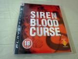 Siren Blood Curse, PS3, original, alte sute de jocuri!, Shooting, 18+, Single player, Sony