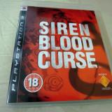 Siren Blood Curse, PS3, original, alte sute de jocuri!