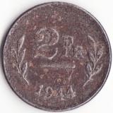 Regatul Belgiei - 2 Francs 1944, Europa