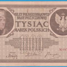 (13) BANCNOTA POLONIA - 1000 MAREK 1919 (17 MAI 1919), FILIGRAN STUP ALBINA - bancnota europa