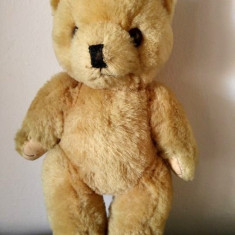 Urs / ursulet de plus / mohair, vechi, vintage, posibil chinezesc (China), 25 cm - Jucarii plus