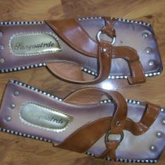 Papuci portughezi handmade 37 - Papuci dama, Culoare: Din imagine