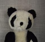 M - Urs, ursulet panda de plus mohair, vechi, vintage, posibil chinezesc, 22 cm