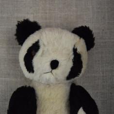 M - Urs, ursulet panda de plus mohair, vechi, vintage, posibil chinezesc, 22 cm - Jucarii plus