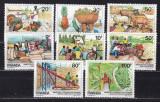 Rwanda  1985  fauna  fructe  agricultura  MI 1297-1304  MNH  w40, Nestampilat