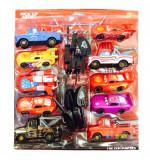 Set 10 masinute cars cu cheita, 2-4 ani, Plastic