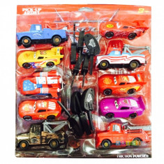 Set 10 masinute cars cu cheita - Masinuta, 2-4 ani, Plastic, Unisex