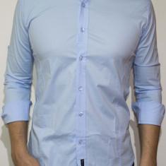 Camasa - camasa bleu camasa slim camasa eleganta camasa barbat cod 88, L, S, XL, Maneca lunga, Din imagine
