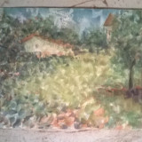 Peisaj Teleorman - Pictor roman, Peisaje, Acuarela, Pointillism
