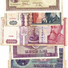 6) Lot 6 bancnote 1941, 1992, 1994, 1966, 1998 - Bancnota romaneasca