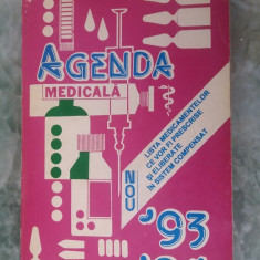 AGENDA MEDICALA 93, 94, EDITURA MEDICALA . STARE FOARTE BUNA .