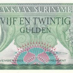 Bancnota Suriname 25 Gulden 1985 - P127 UNC - bancnota america