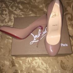 Pantofi Christian Louboutin - Pantof dama Christian Louboutin, Culoare: Crem, Marime: 39