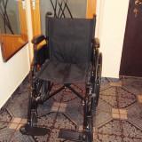 Carucior handicap, pliabil cu rulare manuala - Scaun cu rotile