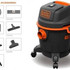 Aspirator umed/uscat Black&Decker BXVC20PE, 20 L, 1200 W, Perii standard - Aspirator cu Filtrare prin Apa