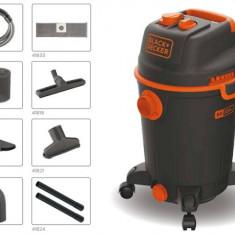 Aspirator umed/uscat Black&Decker BXVC30PTDE, 30 L, 1600 W - Aspirator cu Filtrare prin Apa