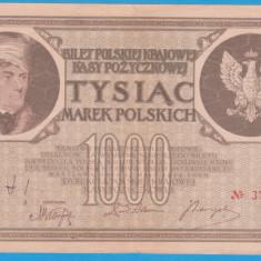 (15) BANCNOTA POLONIA - 1000 MAREK 1919 (17 MAI 1919), FILIGRAN STUP ALBINA - bancnota europa