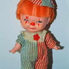 Papusa clovn, clown, arlechin, bufon,  'vechi, vintage, Herman Pecker anii 60,
