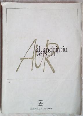 ALEXANDRU ANDRITOIU - AUR (VERSURI, 1974) [coperta NICOLAE NOBILESCU] foto