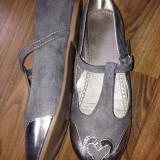 Pantofi  pt fetite de la H&M,noi ,nr 34,gri, Fete