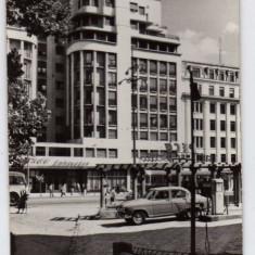 BUCURESTI HOTEL AMBASADOR STATIE PECO BENZINARIE AUTO - Carte Postala Muntenia dupa 1918, Circulata, Fotografie