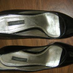 Pantofi dama DOLCE GABBANA 38 pret incredibil - Pantof dama, Culoare: Negru, Cu toc