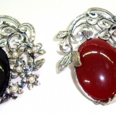Brosa din aliaj antichizat si perle MARTISOARE -model  Fluture