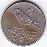 Norvegia 25 ORE 1972  fauna pasare, Europa