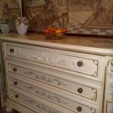 Comoda SILIK, stil baroc venetian, lemn masiv, foita aur, 1/1, 5m, Comode si bufete, Dupa 1950