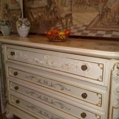 Comoda cu oglinda SILIK, ITALIA, stil baroc VENETIAN/shabby, 1, 5m/2, 65m, Comode si bufete, Dupa 1950