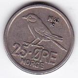 Norvegia 25 ORE 1962 fauna pasare, Europa