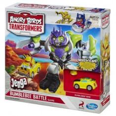 Angry birds Transformers Jenga Bumblebee Bird Battle board game - Jucarii plus Hasbro