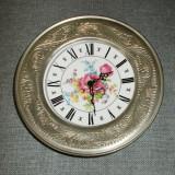 Ceas de perete / Farfurie - portelan Bavaria + Zinc
