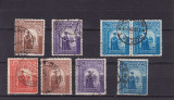 ROMANIA 1941/43 , LP 144 I  SI  LP 145  III , DUCA VODA  SERII  STAMPILATE, Stampilat