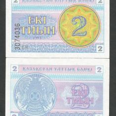 KAZAHSTAN KAZAKHSTAN KAZAKSTAN 2 TYIN / TIN 1993, a UNC [1] P-2c - bancnota asia