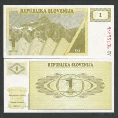 SLOVENIA 1 TOLAR 1990 UNC [1] P-1a, necirculata - bancnota europa