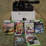 Vand Xbox 360 Microsoft + Kinect + 6 jocuri