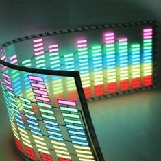 Panou egalizator auto multicolor| senzor| Sticker egalizator luneta 90x25 cm