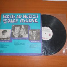 VEDETE ALE MUZICII USOARE ITALIENE disc vinil LP vinyl pickup pick-up