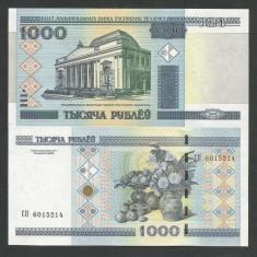 BELARUS 1.000 1000 RUBLE 2000 ( 2011 ) UNC [1] P-28b, fir de siguranta - bancnota europa