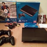 Playstation PS3 Super Slim Blu-Ray 500 GB - 2 controllere + 8 jocuri - PlayStation 3 Sony