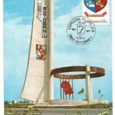 No(2)ilustrata maxima-Expozitia filatelica Botosani 1977, Romania de la 1950