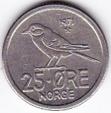 Norvegia 25 ORE 1971  fauna pasare, Europa