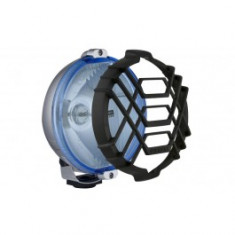 Proiector auto Wesem 12/24V bec H3, 152x81mm rotund, sticla albastra si carcasa cromata, cu lumina de drum, 1 buc.