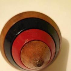 Jucarie veche, vintage, titirez de lemn, 10cm